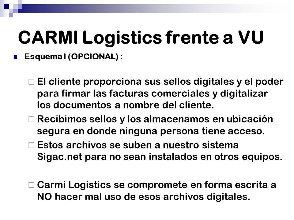 CARMI Logistics frente a VU