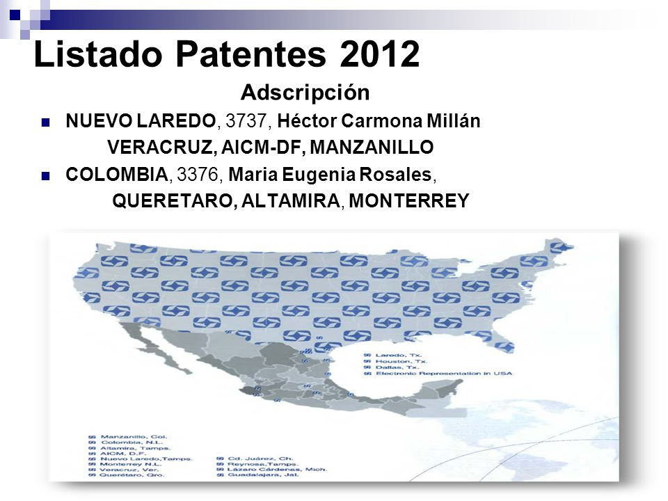 Listado Patentes 2012 NUEVO LAREDO, 3737, Héctor Carmona Millán