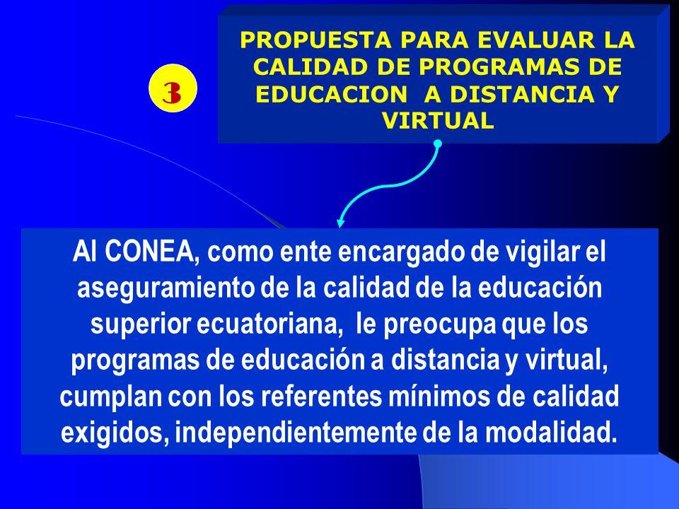 PROPUESTA PARA EVALUAR LA CALIDAD DE PROGRAMAS DE EDUCACION A DISTANCIA Y VIRTUAL