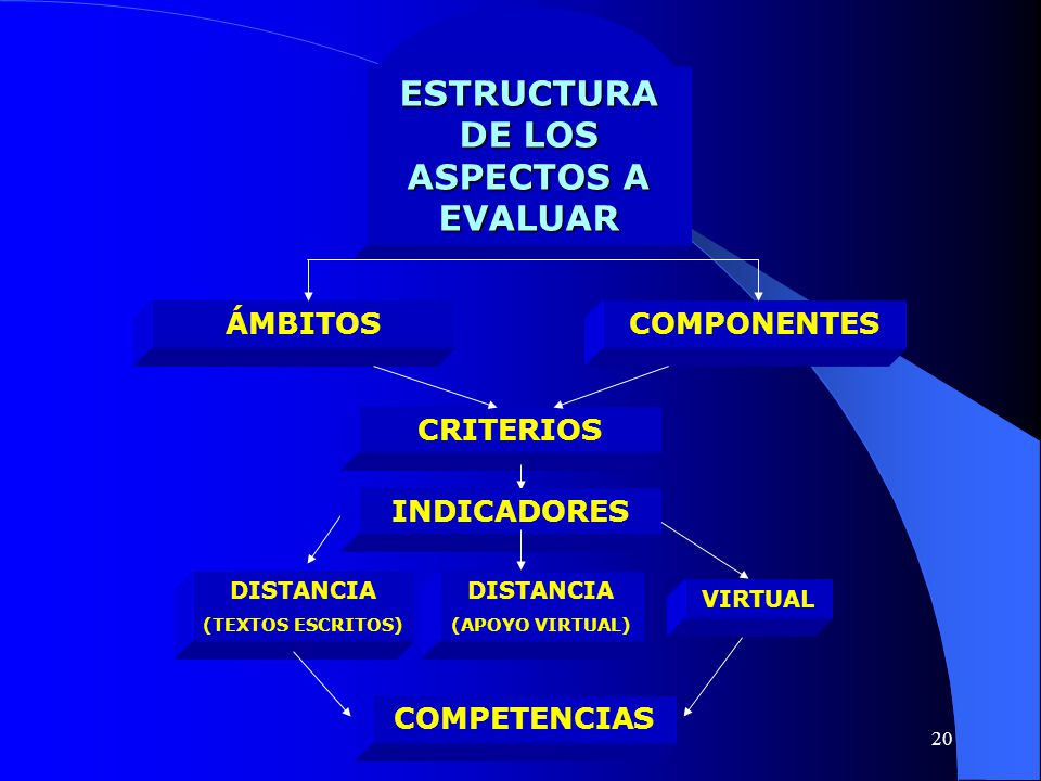 ESTRUCTURA DE LOS ASPECTOS A EVALUAR