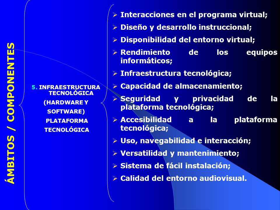 5. INFRAESTRUCTURA TECNOLÓGICA