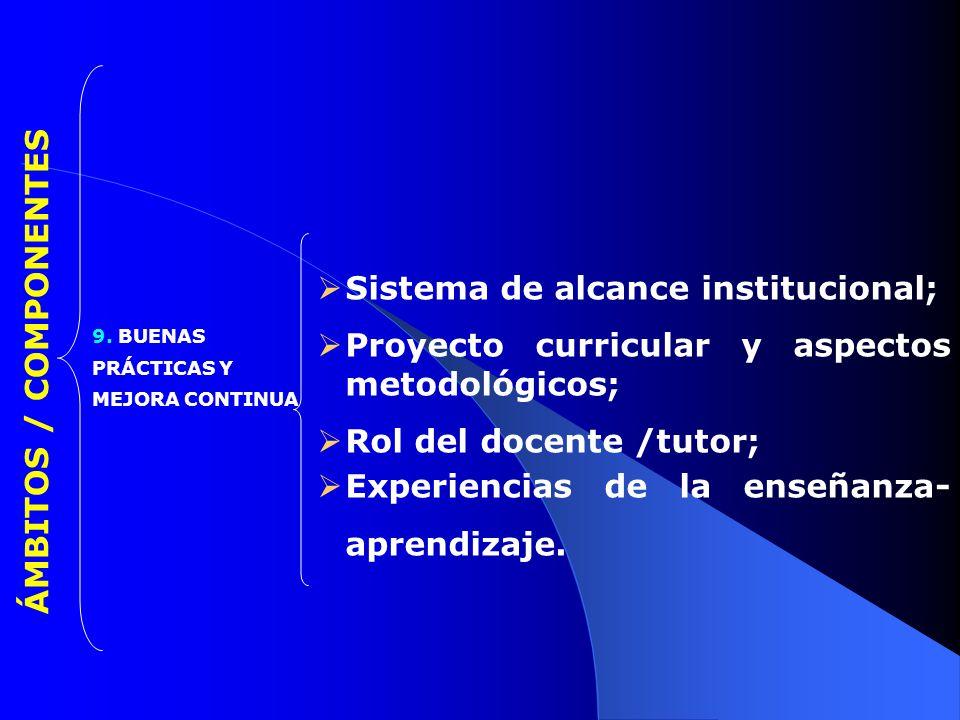Sistema de alcance institucional;