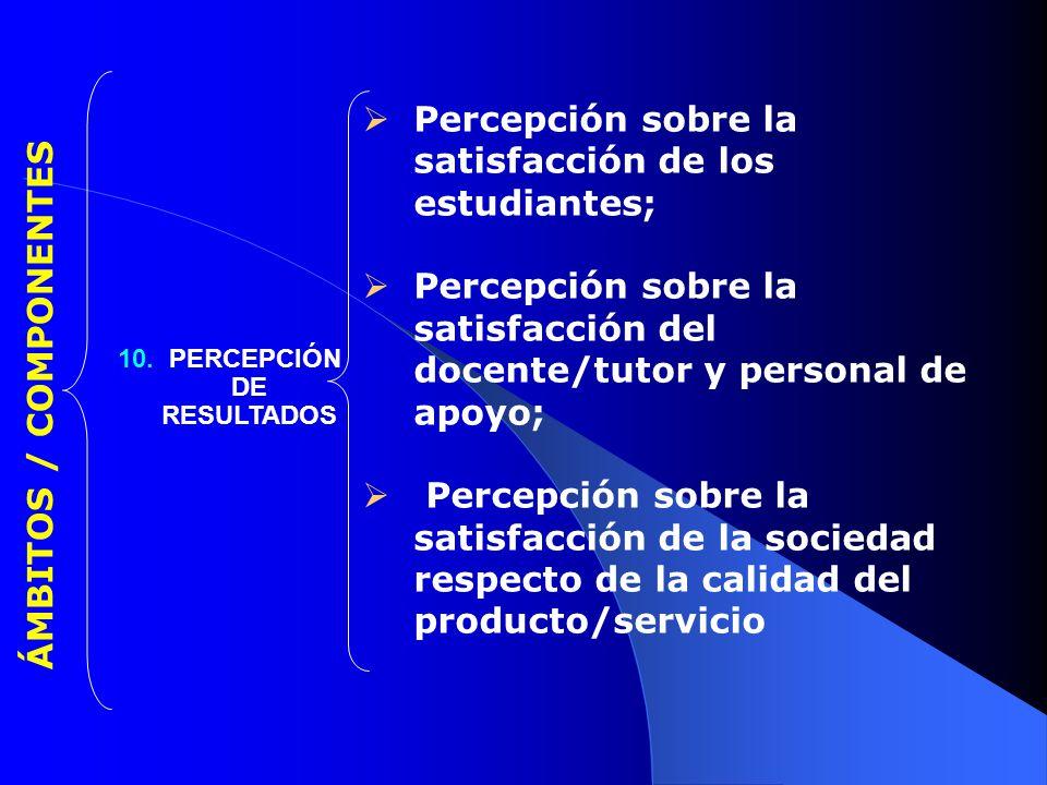 10. PERCEPCIÓN DE RESULTADOS