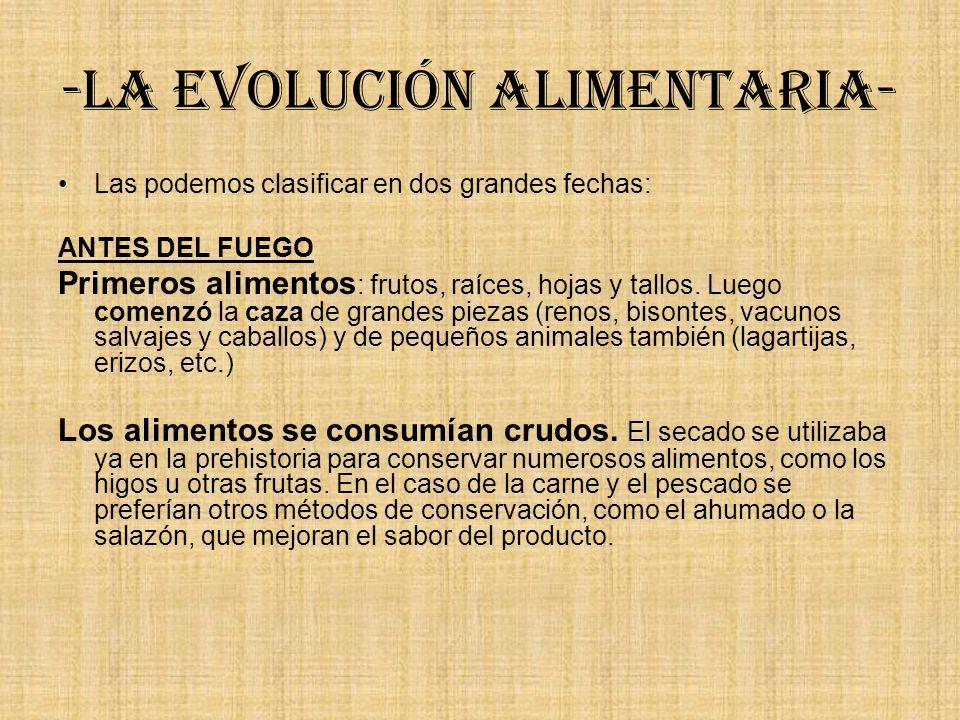 -La evolución alimentaria-