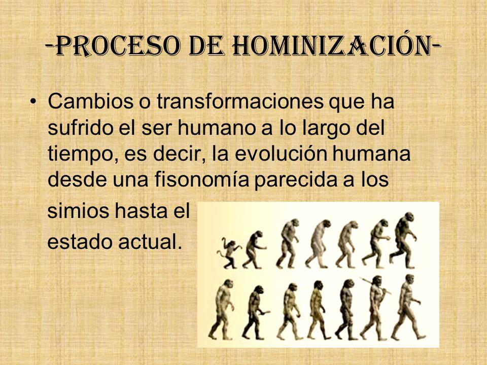 -Proceso de hominización-