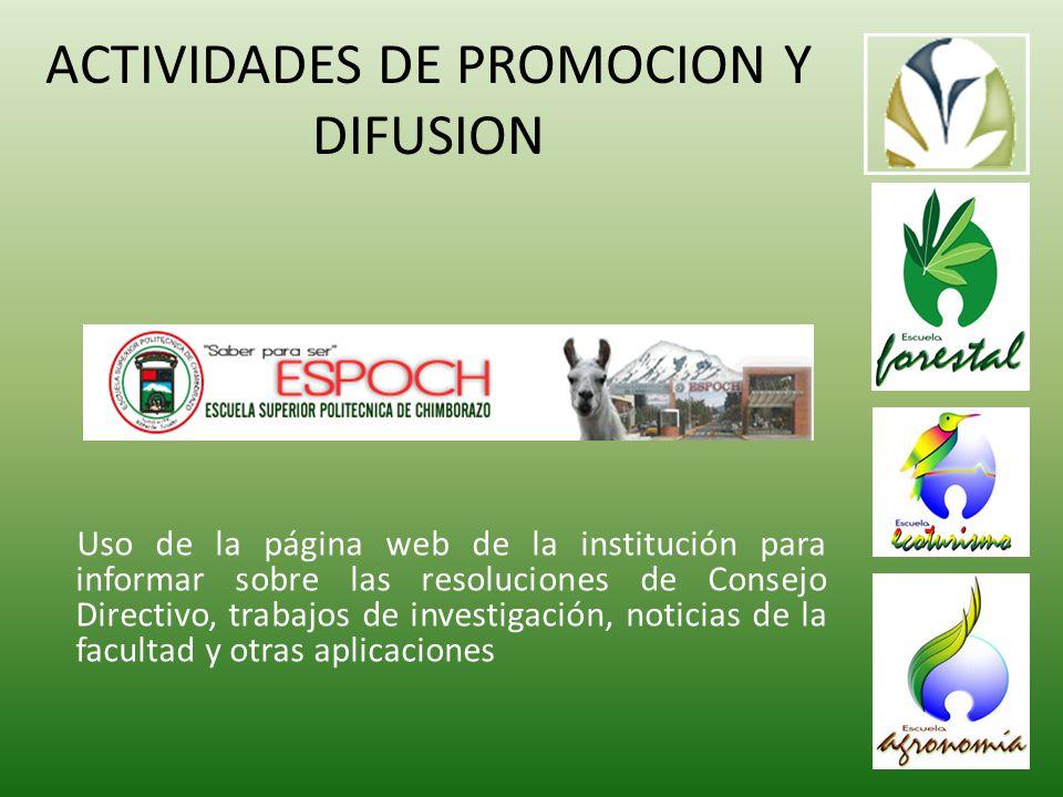 ACTIVIDADES DE PROMOCION Y DIFUSION