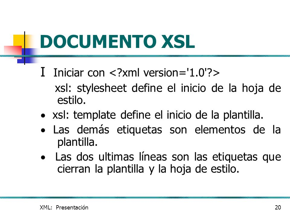XML Extensible Modeling Language - ppt descargar