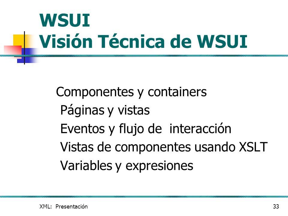 WSUI Visión Técnica de WSUI