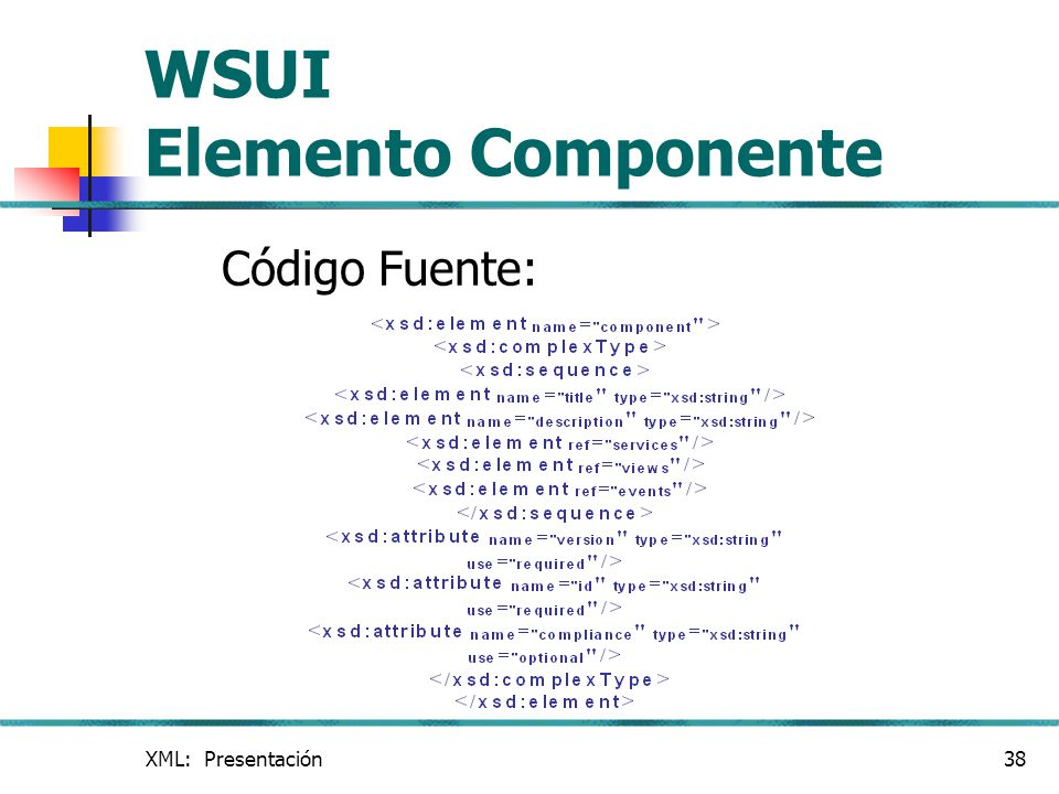 WSUI Elemento Componente
