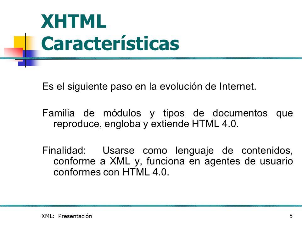 XHTML Características