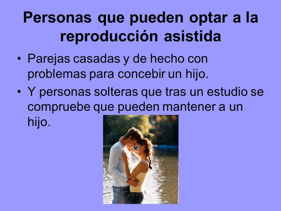 Personas que pueden optar a la reproducción asistida