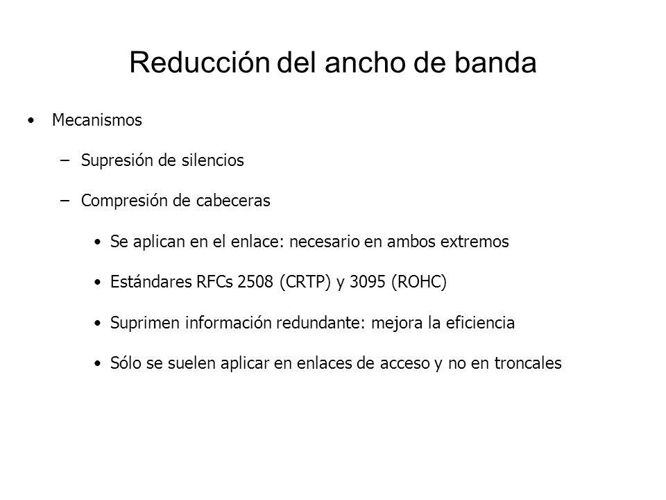 Reducción del ancho de banda