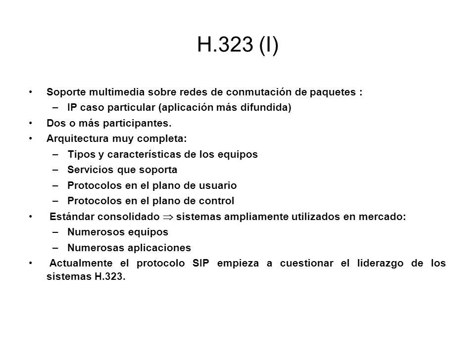H.323 (I) Soporte multimedia sobre redes de conmutación de paquetes :
