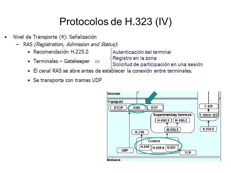 Protocolos de H.323 (IV) Nivel de Transporte (4): Señalización