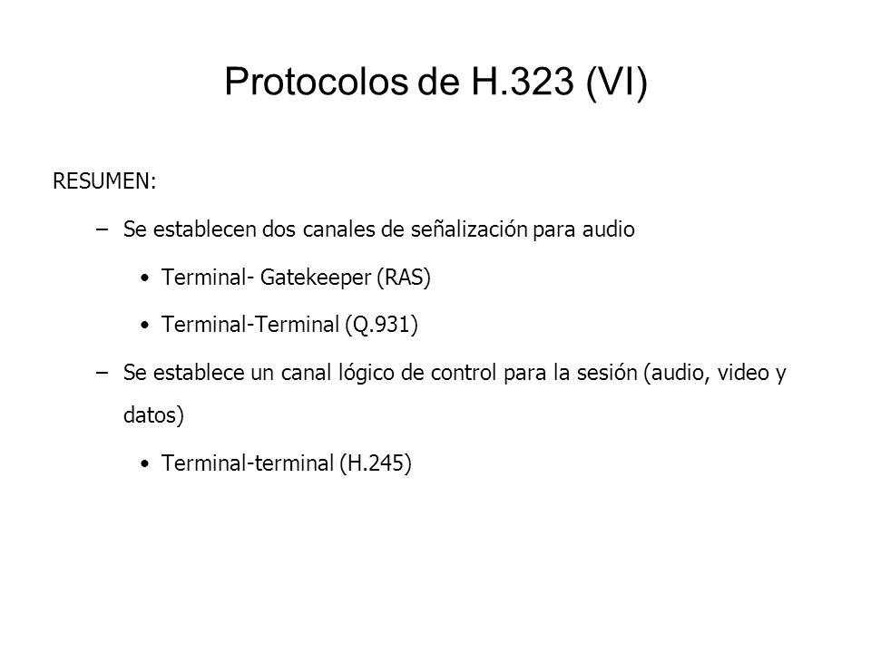 Protocolos de H.323 (VI) RESUMEN: