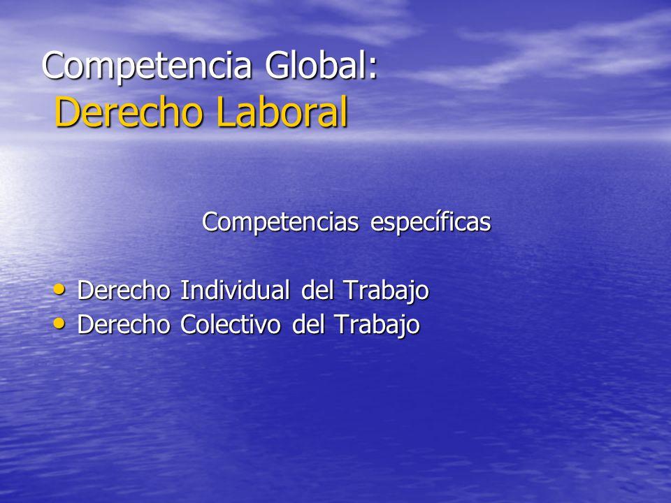 Competencia Global: Derecho Laboral