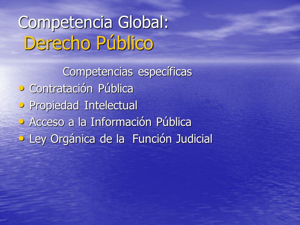 Competencia Global: Derecho Público