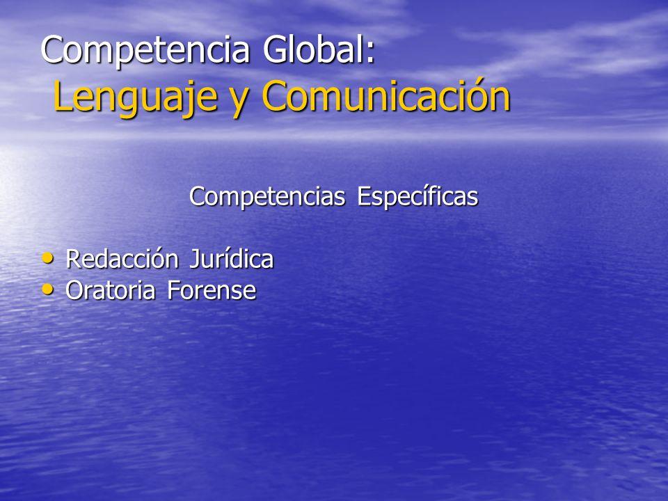 Competencia Global: Lenguaje y Comunicación