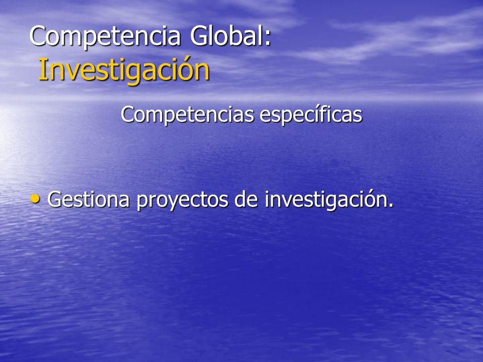 Competencia Global: Investigación