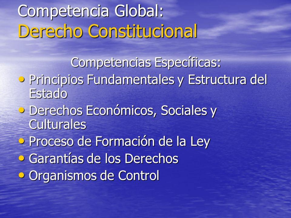 Competencia Global: Derecho Constitucional