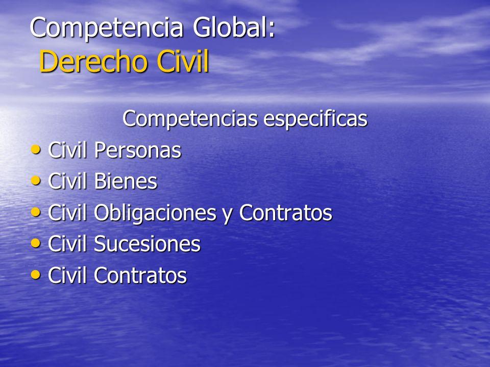 Competencia Global: Derecho Civil