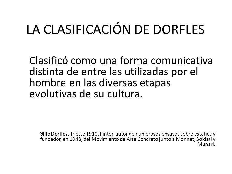 LA CLASIFICACIÓN DE DORFLES