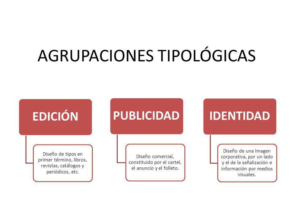 AGRUPACIONES TIPOLÓGICAS