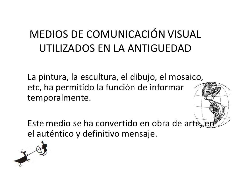 MEDIOS DE COMUNICACIÓN VISUAL UTILIZADOS EN LA ANTIGUEDAD