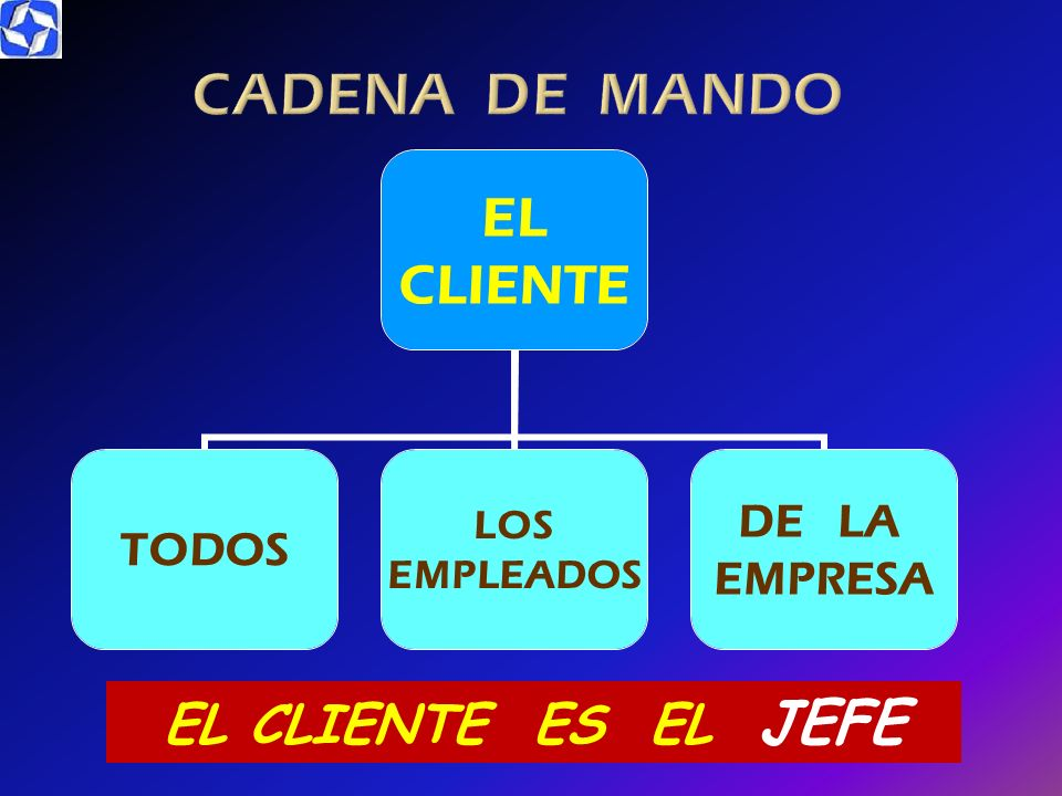 CADENA DE MANDO EL CLIENTE ES EL JEFE