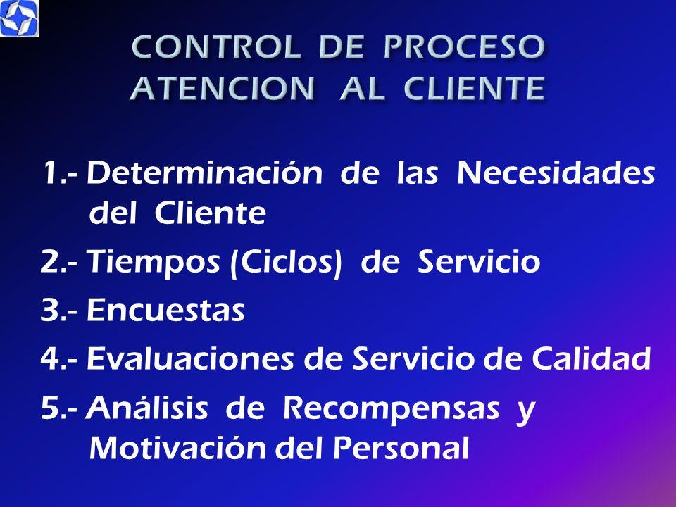 CONTROL DE PROCESO ATENCION AL CLIENTE