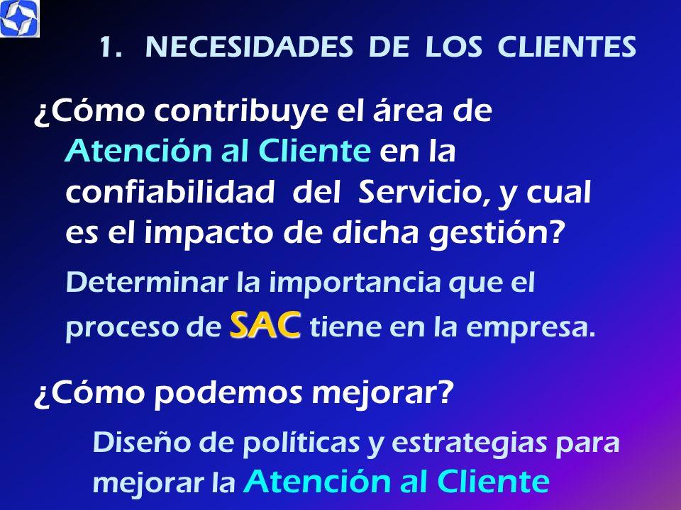 1. NECESIDADES DE LOS CLIENTES
