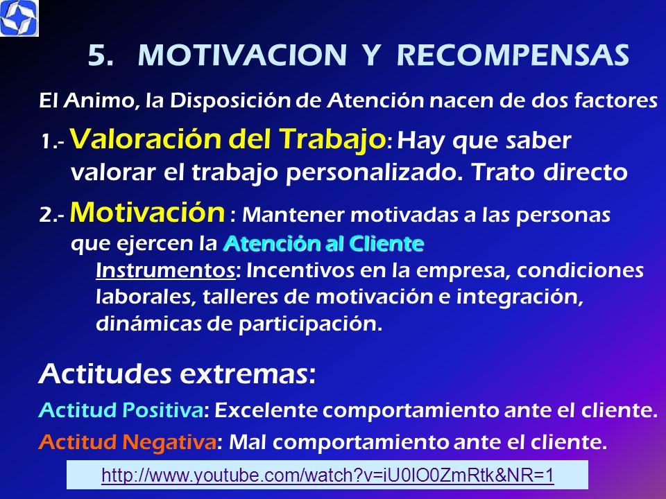 5. MOTIVACION Y RECOMPENSAS