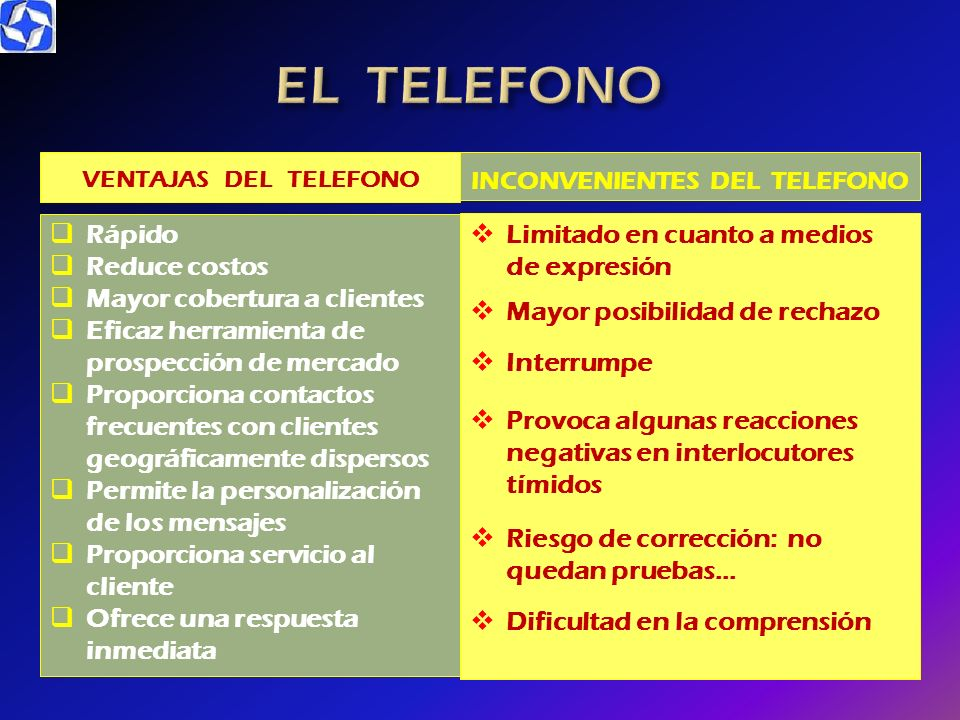 INCONVENIENTES DEL TELEFONO