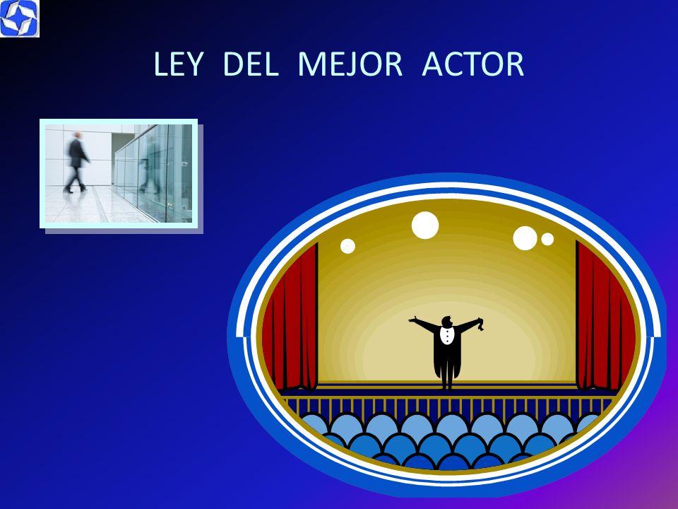 LEY DEL MEJOR ACTOR