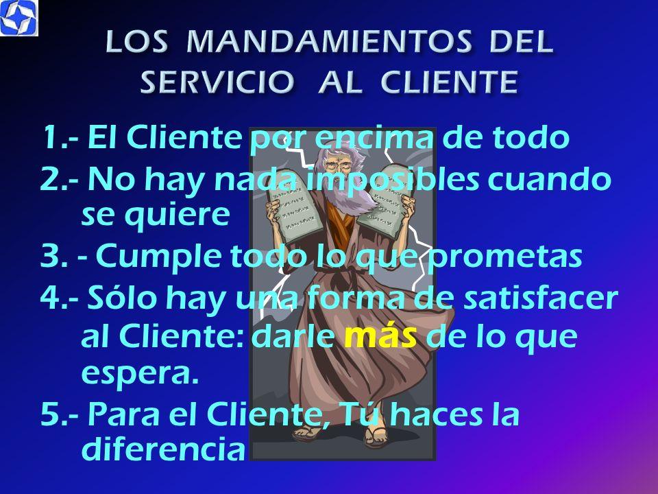 LOS MANDAMIENTOS DEL SERVICIO AL CLIENTE