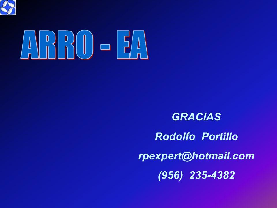 ARRO - EA GRACIAS Rodolfo Portillo rpexpert@hotmail.com (956) 235-4382