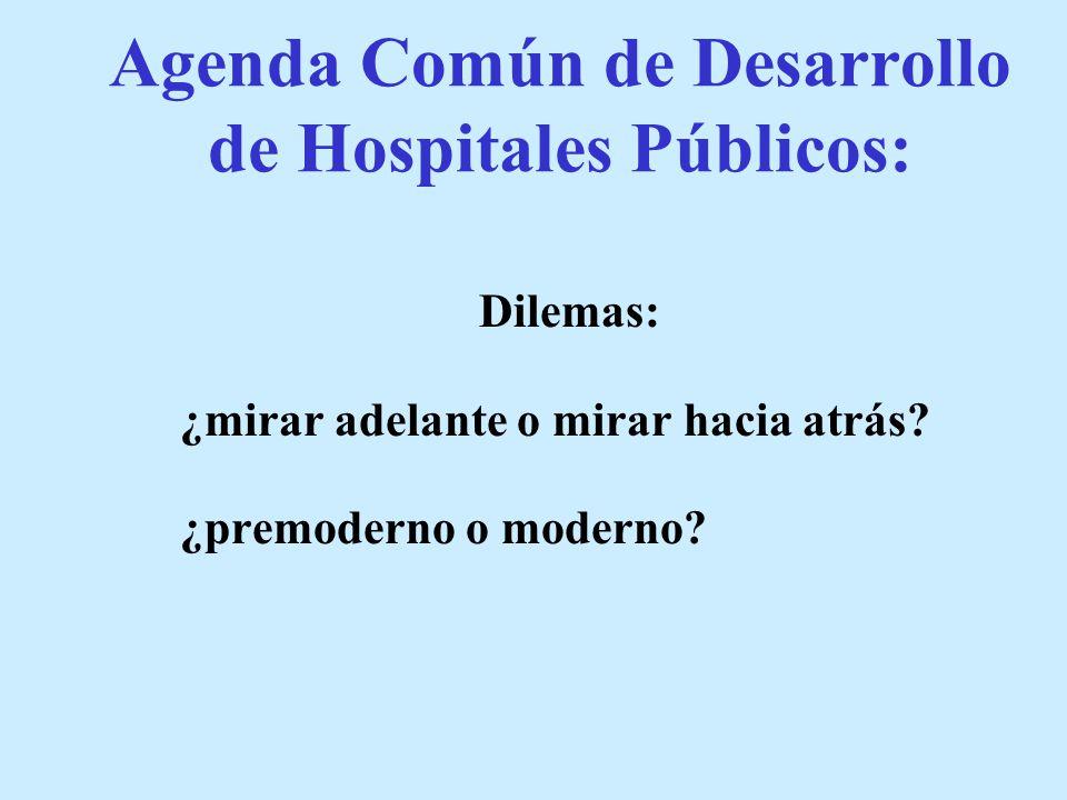 Agenda Común de Desarrollo de Hospitales Públicos: