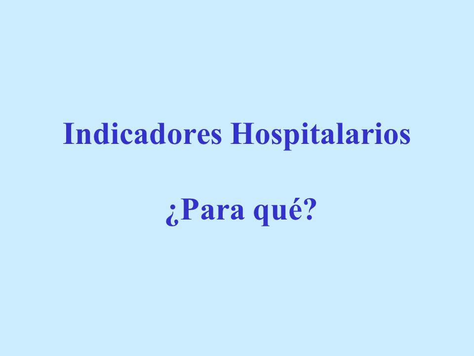 Indicadores Hospitalarios ¿Para qué