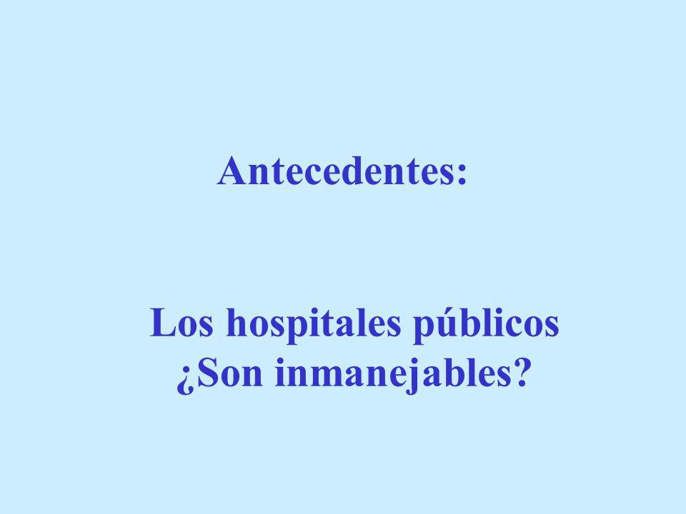 Los hospitales públicos ¿Son inmanejables