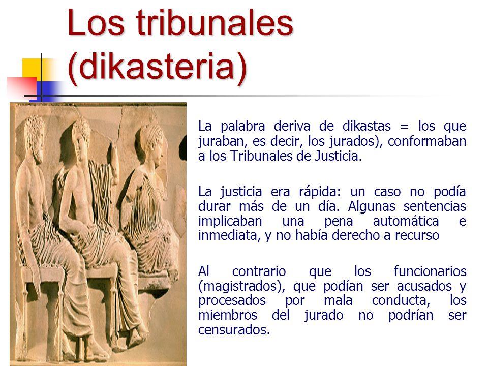Los tribunales (dikasteria)