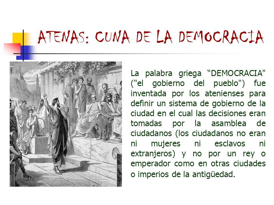 ATENAS: CUNA DE LA DEMOCRACIA