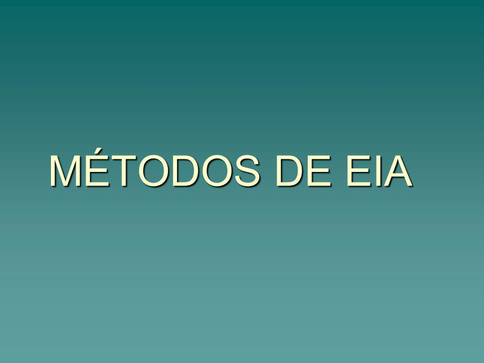 MÉTODOS DE EIA
