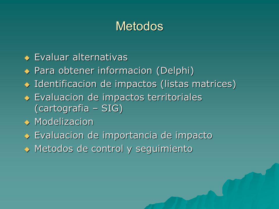 Metodos Evaluar alternativas Para obtener informacion (Delphi)