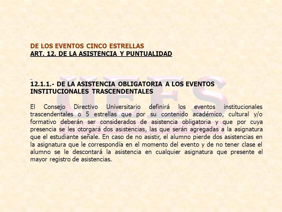 DE LOS EVENTOS CINCO ESTRELLAS