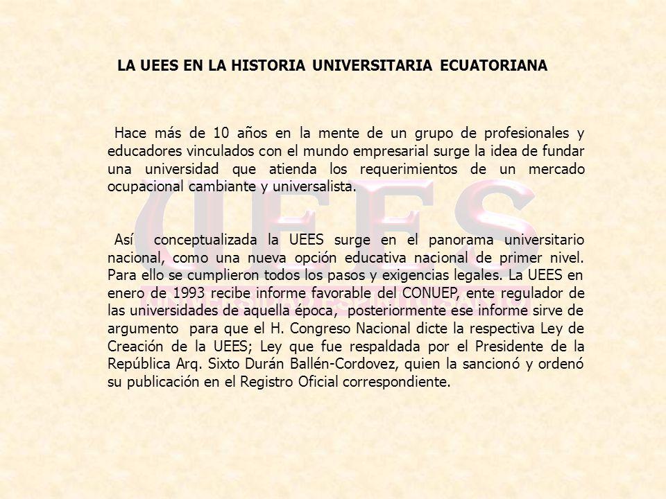 LA UEES EN LA HISTORIA UNIVERSITARIA ECUATORIANA