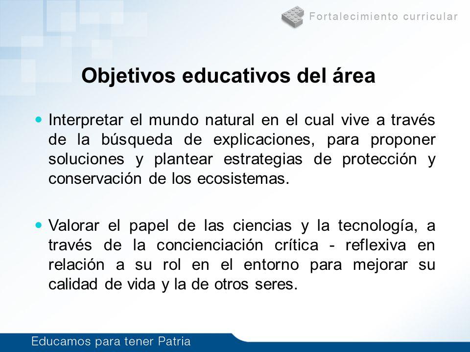 Objetivos educativos del área