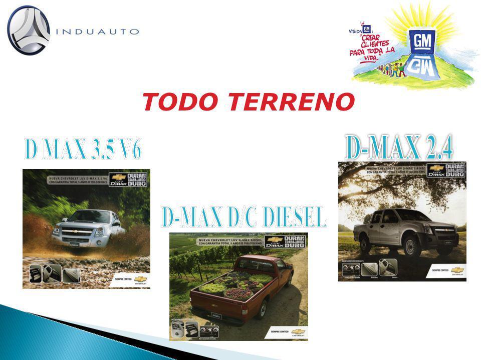 TODO TERRENO D-MAX 2.4 D MAX 3.5 V6 D-MAX D/C DIESEL