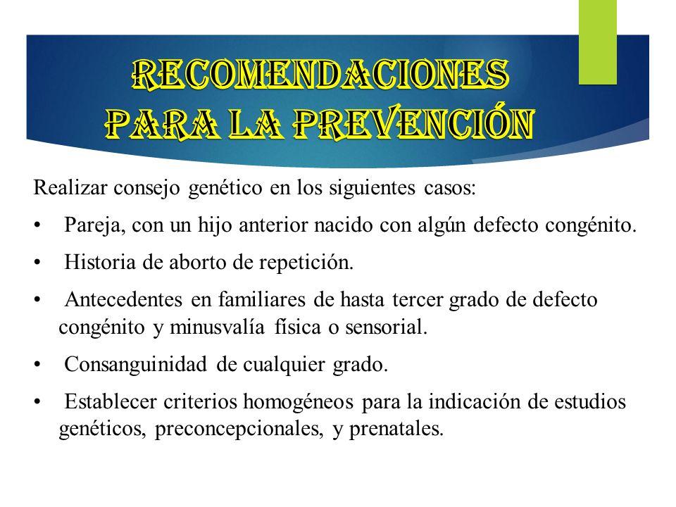 Recomendaciones para la prevención