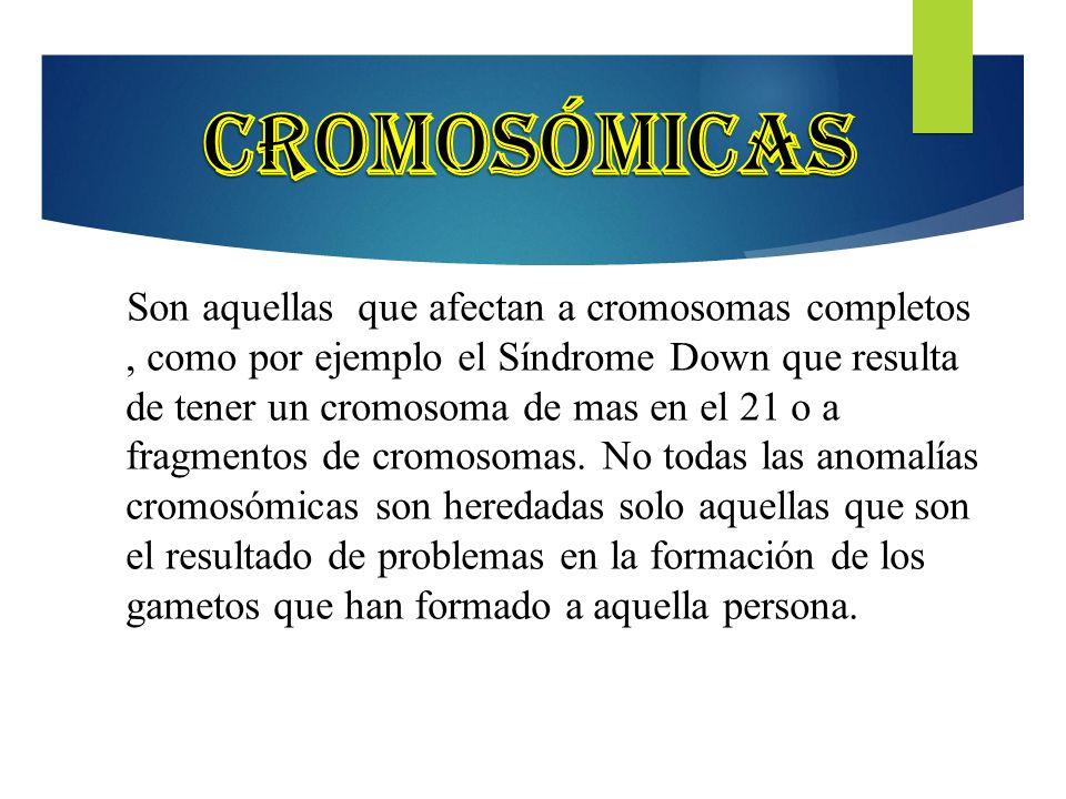 Cromosómicas