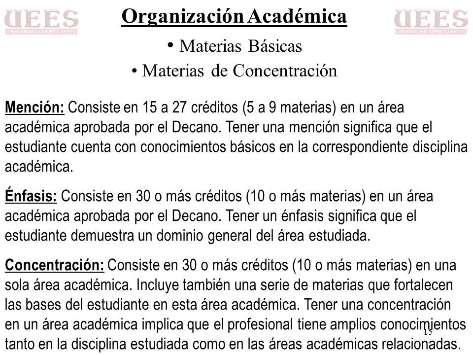 Organización Académica